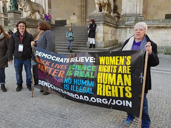 Januar 2019: Schwesterdemonstrationen in München zu den Frauenmärschen in den USA